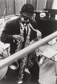 William Claxton (American, 1927-2008) Roland Kirk, circa 1960 Gelatin silver, printed later 13-3/