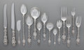 Silver Flatware, American:Whiting, A One-Hundred-Eighty-Five Piece Whiting Mfg. Co. LilyPattern Silver Flatware Service for Twelve, New York, New ...(Total: 185 )