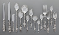 A One-Hundred-Eighty-Five Piece Whiting Mfg. Co. Lily Pattern Silver Flatware Service for Tw