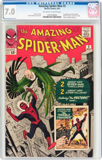 The Amazing Spider-Man #2 (Marvel, 1963) CGC FN/VF 7.0 Off-white to white pages