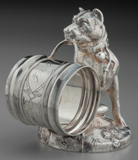 A Simpson, Hall, Miller & Co. Silver-Plated Figural Napkin Ring, Wallingford, Connecticut, circa 1875 Marks: SI