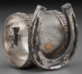 Silver Holloware, American:Napkin Rings, An American Silver-Plated Figural Napkin Ring, circa 1875. 2-1/4inches high (5.7 cm). PROPERTY FROM THE ESTATE OF JESSICA...