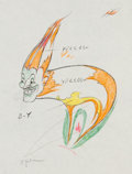 Animation Art:Color Model, Moth and Flame Color Model Drawing Group of 3 (Walt Disney,1938).... (Total: 3 Items)