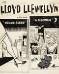Original Comic Art:Covers, Daniel Clowes Lloyd Llewellyn #6 Cover Original Art(Fantagraphics, 1987)....