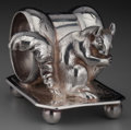 Silver Holloware, American:Napkin Rings, A William Rogers Co. Silver-Plated Figural Napkin Ring, Hartford,Connecticut, circa 1975. Marks: WM. ROGERS M...