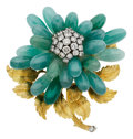 Estate Jewelry:Brooches - Pins, Diamond, Chalcedony, Gold Brooch, David Webb. ...