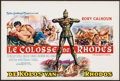 "Movie Posters:Adventure, The Colossus of Rhodes (MGM, 1961). Belgian (14"" X 21"").Adventure.. ..."