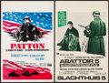 "Movie Posters:War, Patton & Other Lot (20th Century Fox, 1971). Belgian Posters (2) (14"" X 21.25""). War.. ... (Total: 2 Items)"