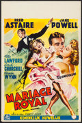 """Movie Posters:Musical, Royal Wedding (MGM, 1951). Belgian (13.5"""" X 20.5""""). Musical.. ..."""