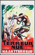 "Movie Posters:Documentary, Naked Terror (CED Films, 1960s). Belgian (14"" X 21.75""). Documentary.. ..."