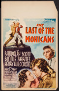 """Movie Posters:Adventure, The Last of the Mohicans (United Artists, 1936). Window Card (14"""" X22""""). Adventure.. ..."""