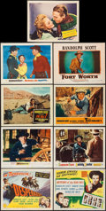 """Movie Posters:Western, The Desperadoes & Others Lot (Columbia, 1943). Title Lobby Cards (2) & Lobby Cards (7) (11"""" X 14""""). Western.. ... (Total: 9 Items)"""
