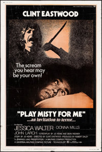 """Play Misty For Me (Universal, 1971). Poster (40"""" X 60""""). Thriller"""