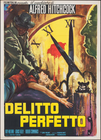 "Dial M for Murder (Warner Brothers, R-1960s). Italian 2 - Foglio (39.25"" X 55.25""). Hitchcock"