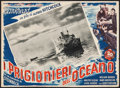 "Movie Posters:Hitchcock, Lifeboat (20th Century Fox, 1948). First Post-War Release Italian Photobusta (13.75"" X 18.75""). Hitchcock.. ..."