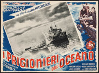 "Lifeboat (20th Century Fox, 1948). First Post-War Release Italian Photobusta (13.75"" X 18.75""). Hitchcock"