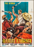"Movie Posters:Drama, The Silver Chalice (Gold Film, R-1960s). Italian 4 - Foglio (55.25"" X 77.25""). Drama.. ..."