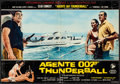 "Movie Posters:James Bond, Thunderball (United Artists, 1965). Italian Photobustas (2) (18.5""X 26.5""). James Bond.. ... (Total: 2 Items)"