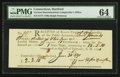 Colonial Notes:Connecticut, Connecticut Interest Payment Certificate £2 3s 10d 1790 PMG ChoiceUncirculated 64.. ...