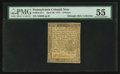 Colonial Notes:Pennsylvania, Pennsylvania April 10, 1777 6d PMG About Uncirculated 55.. ...