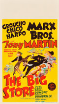 "Movie Posters:Comedy, The Big Store (MGM, 1941). Midget Window Card (8"" X 14"").. ..."