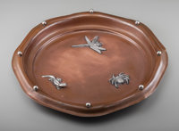 A Tiffany & Co. Mixed Metals Dish, New York, New York, circa 1901-1902 Marks: TIFFANY & CO., 15022, MAKERS, 456...