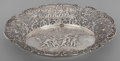Silver Holloware, Continental:Holloware, A German Silver Reticulated Bread Basket, Hanau, Germany, late 19thcentury. 2 inches high x 12-1/2 inches wide (5.1 x 31.8 ...