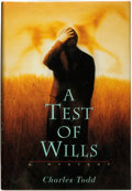 Books:Mystery & Detective Fiction, Charles Todd. A Test of Wills. New York: St. Martin's Press,[1996]....