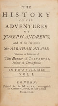 Books:Literature Pre-1900, [Henry Fielding]. The History of the Adventures of JosephAndrews, and of his Friend Mr. Abraham Adams. London: Prin...(Total: 2 Items)
