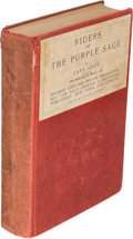 Books:Literature 1900-up, Zane Grey. Riders of the Purple Sage. New York: 1912.Advance Copy for Private Distribution....