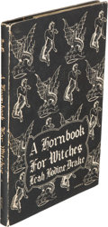 Books:Horror & Supernatural, Leah Bodine Drake. A Hornbook for Witches. Sauk City: ArkhamHouse, 1950. First edition, signed by the author on...