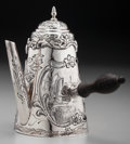 Silver Holloware, Continental:Holloware, A Small Dutch Silver Chocolate Pot, circa 1900. Marks: (lionpassant-key), (Minerva), ABI. 6 inches high (15.2 cm).7.84...