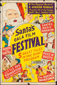 """Santa's Giant Film Festival of the Brothers Grimm (Trans-International Films, 1969). Poster (40"""" X 60"""") Altern..."""