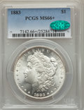 1883 $1 MS66+ PCGS. CAC. PCGS Population: (1081/176 and 169/40+). NGC Census: (819/136 and 15/6+). CDN: $380 Whsle. Bid...