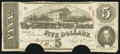 Confederate Notes:1863 Issues, T60 $5 1863 PF-10 Cr. UNL.. ...