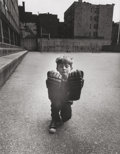 Photographs, Arthur Tress (American, b. 1940). Boy with hockey gloves, 1968. Gelatin silver, printed later. 9-3/8 x 7-1/4 inches (23....