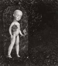Jerry Uelsmann (American, b. 1934) Doll with flag and rose, 1962 Gelatin silver 6-3/4 x 7-3/4 inc