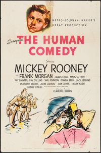 "The Human Comedy (MGM, 1943). One Sheet (27"" X 41"") Style D. Drama"