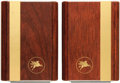 Books:Furniture & Accessories, [Bookends]. Pair of Matching Wooden Bookends with Pegasus Motif.Advance, undated.. ... (Total: 2 Items)
