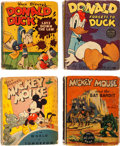 Big Little Book:Miscellaneous, Big Little Book Mickey Mouse and Donald Duck Group of 4 (Whitman,1935-48).... (Total: 4 Comic Books)