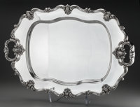 A Large Frank Whiting Silver Serving Tray, North Attleboro, Massachusetts, circa 1950 Marks: (W in circle), ST