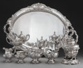 Silver Holloware, American:Tea Sets, A Seven Piece Reed & Barton Francis I Pattern SilverCoffee and Tea Service with Tray, Taunton, Massachusetts, c...(Total: 8 )