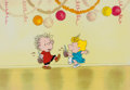 Animation Art:Production Cel, Peanuts The Charlie Brown and Snoopy Show (Spain Edition)Sally and Linus Production Cel and Drawing (Bill Melende... (Total:2 Original Art)