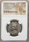 Ancients:Oriental, Ancients: PARTHIAN KINGDOM. Vologases I, second reign (AD 50-78). BI tetradrachm (14.35 gm)....