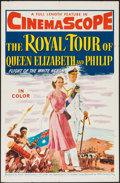 "Movie Posters:Documentary, The Royal Tour of Queen Elizabeth and Philip (20th Century Fox, 1954). One Sheet (27"" X 41""). Documentary.. ..."