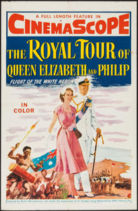 """The Royal Tour of Queen Elizabeth and Philip (20th Century Fox, 1954). One Sheet (27"""" X 41""""). Documentary"""