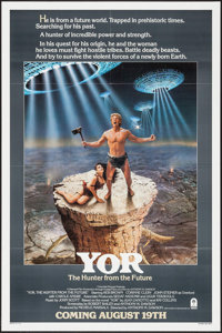 """Yor, the Hunter from the Future (Columbia, 1983). One Sheet (27"""" X 41""""), Mini Lobby Card Set of Eight (8""""..."""