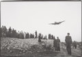 Photographs:Gelatin Silver, Tony Vaccaro (American, b. 1922). Airlift Plane Landing in Berlin, January 1948. Gelatin silver, printed later. 9 x 13-1...