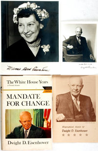 [Featured Lot]. Dwight D. Eisenhower. INSCRIBED BOOKPLATE. Mandate for Change. Garden City: Dou
