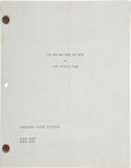 Books:Fiction, [Alfred Hitchcock]. John Michael Hayes. The Man Who Knew TooMuch. [N.p., March 1955]. First Draft. Mimeograph c...